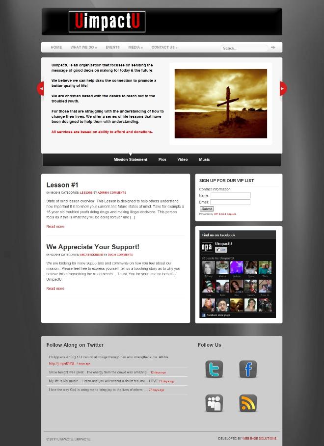 UimpactU website created by Web Base Solutions
