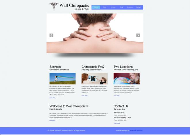 Wall Chiropractic Website