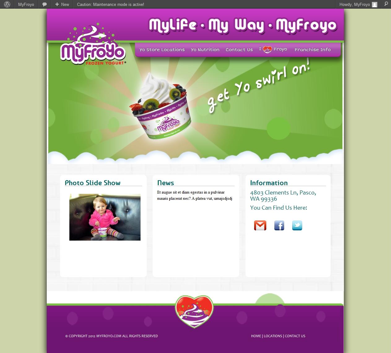 MyFroyo website developed by Web Base Solutions